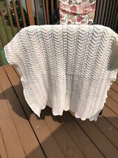 Baby blanket Hand Made Crochet 28x28 New
