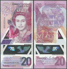EAST CARIBBEAN 20 DOLLARS 2019 P NEW B242 POLYMER QE II UNC
