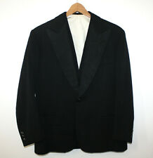 R Barbieri Milano Vtg 1930s Formal 3pc Tuxedo Wool Handmade Peak Lapel 38S 34-28