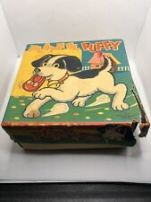 Vintage Alps playful Puppy Wind Up Dog Toy With Shoe In Mouth Rare Works !!