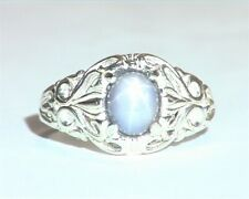 Star Sapphire Natural Genuine Gemstone in Starling Silver Lady,s Ring RSS,1103