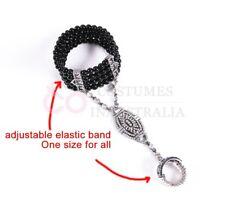 20s Vintage Bracelet Great Gatsby Black Gold Silver Flapper Costume Accessories