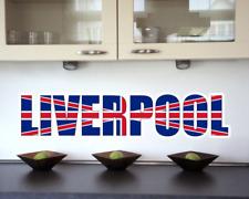 Wandtattoo Liverpool Schriftzug Wandaufkleber UK  8 Größen