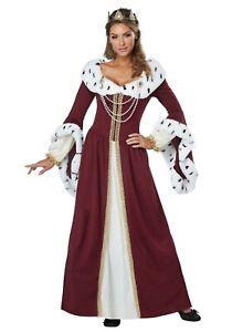 Women's Royal Queen Renaissance Costume SIZE L (Used)