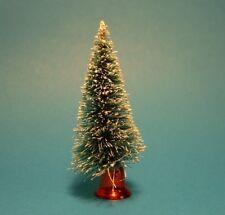 10 SNOW EFFECT FIBRE CHRISTMAS TREES - cake decoration/craft FREE 1st Class P&P