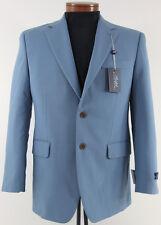 Men's RALPH LAUREN Light Blue Wool Lycra Jacket Blazer 38S 38 Short NWT NEW