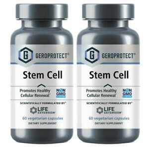 2 Bottles Life Extension Geroprotect Stem Cell - 60 Veggie Caps each - Exp 10/22
