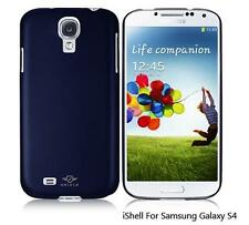iShell Navy Blue Classic Snap-On Case + Screen Protector for Samsung Galaxy S4