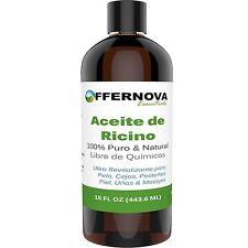 Aceite de Ricino Castor 100% PURO y ORGANICO - Para el Cabello Cejas Pestaas ...