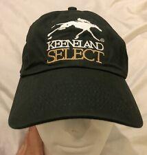 Keeneland Select Horse Racing Racetrack Green Cap Hat Strapback Lexington KY