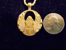bling gold plated egyptian scarab bug myth Charm Pendant hip hop chain Necklace