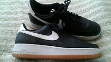 Nike Air Force 1 Casual Shoes Black White Gum men Size 10