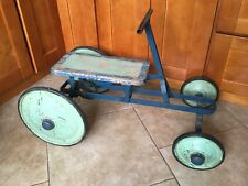 Antique 1920 Irish Mail Cart Pedal Car All Original Gear Drive