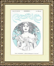 Rare Original 1899 Wood Block Print Cocorico No. 19 Cover, Alfons Mucha