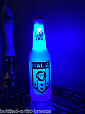FIFA Italy Italia Soccer Football 12 oz Beer Bottle Light LED Neon Bar Pub