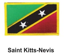 """ST KITTS NEVIS FLAG EMBROIDERED PATCH - IRON-ON - NEW 2.5 x 3.5"""" FREE SHIPPING"""