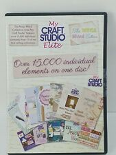 My Craft Studio Elite CD The Mega Word Collection Paper Design NEW