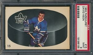 1962-63 Parkhurst # 15 Dave David Keon Toronto Maple Leafs 2nd Year HOF PSA 9