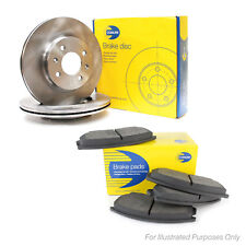 Genuine Comline Front Vented Brake Discs & Pad Kit