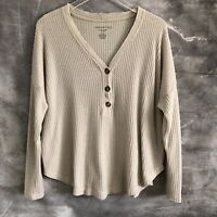 American Eagle Soft & Sexy Plush Womens Top Size M Long Sleeve Knit Blouse