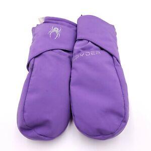 Spyder Gloves Youth Medium Purple Mittens Winter Outdoors Kids Boys Girls