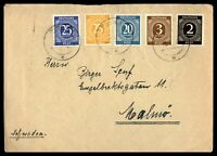 GERMANY PIRNA APRIL 23 1947 COVER TO MALMO