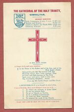 Gibraltar, Cathedral of the Holy Trinity, Information card, prayer, 1950s  YG74