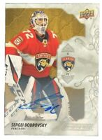 2019-20 Upper Deck Engrained Autograph Sergei Bobrovsky Panthers
