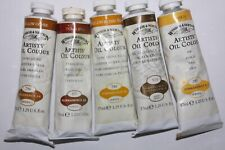5 Winsor & Newton Oil Paint's-from England-37ml-Series 1&2-Vintage Golds Set