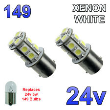 2 x White 24v LED BA15s 149 R5W 13 SMD Number Plate Interior Bulbs HGV Truck