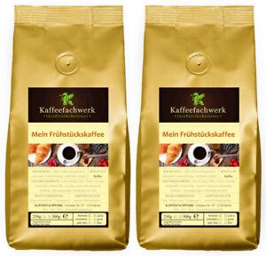 Mein Frühstückskaffee 2x500g ♥ Frisch gerösteter Kaffee gemahlen oder Bohnen 1kg