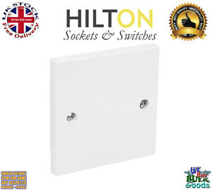 HILTON 1Gang or Single Blank Plate White Plastic ***Best Quality**
