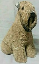 "8"" Sandicast Soft Coated Wheaten Terrier Dog Figurine Signed Sandra Brue"