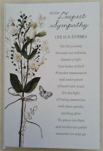 With deepest Sympathy greeting card 13x19cm