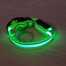 Hundehalsband mit LED Licht Reflektoren Würger Zugstopp Blinklicht