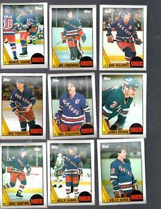 1987-88 TOPPS NEW YORK RANGERS TEAM SET  (11 CARDS)