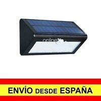 Foco Pared Solar 18 LED Sensor PIR de Movimiento Luz Alumbrado Exterior a2949