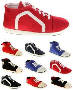 Mens Dunlop Warm Fleece Novelty Sports Trainer Slippers Size 6 7 8 9 10 11 12 13