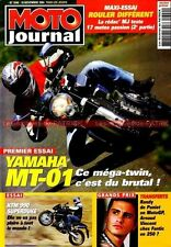 MOTO JOURNAL 1640 Essai road Test YAMAHA MT-01 KTM 990 SuperBike KAWASAKI W650