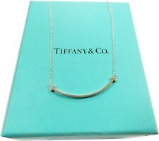"Tiffany & Co Sterling Silver Smile 18"" Necklace w/ Original Box"