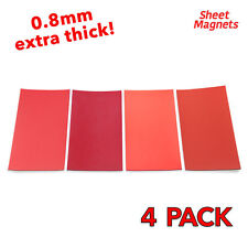 200mm x 100mm Red Coloured Magnetic Labels 0.8mm | 4 Pack | Ref.59146