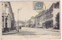 CPA 59500 DOUAI rue de Valenciennes magasin machines agricoles  Edit B.F. 1906