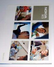 Original Nokia N73 teléfono Manual Guía del usuario 134 página versión en lengua inglesa Nueva