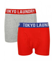 Kids Boys Tokyo Laundry Alton 2 Pack Boxer Shorts Underwear Ages 6 - 13 Years