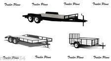 (3 Sets)Plans For 8x20 Car Trailer, 8x18 Utility Trailer & 6x10 Utility Trailer