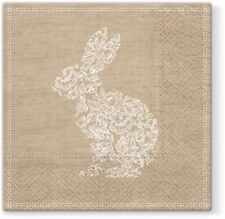 LACE EASTER BUNNY 20 Lunch Paper Napkins Decoration DECOUPAGE Floral