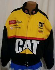 Nascar Bill Davis 22 Ward Burton CAT Financial Mens Racing Bomber Jacket Size XL
