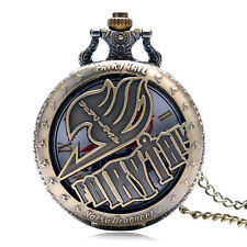 Fairy Tail Natsu Dragneel Fashion Pocket Watch Hollow Necklace Cool Kids Gift