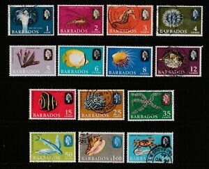 QEII BARBADOS 65  Sea life set nhm um &  fine used