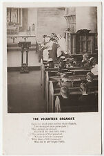 BAMFORTH SONG CARD - Volunteer Organist Each Eye Shed Tears - 1904 used postcard
